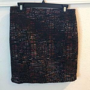 Black & Multi Ann Taylor Loft skirt
